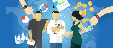 Consulta del concepto del trabajo de las reuniones del consultor de la estrategia de la consultoría de negocios Imagen de archivo libre de regalías