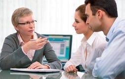 Consulta do planeamento financeiro Foto de Stock