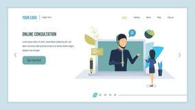 Consulta en línea Atención al cliente técnica, centro de atención telefónica, servicios de asesoramiento stock de ilustración