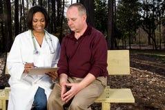 Consulta médica Imágenes de archivo libres de regalías