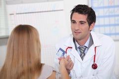 Consulta médica Imagen de archivo libre de regalías