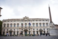 The Consulta Palace in Rome Royalty Free Stock Photos