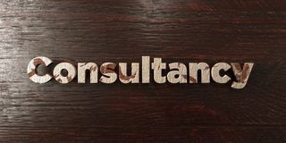 Consultancy - grungy wooden headline on Maple  - 3D rendered royalty free stock image Royalty Free Stock Photos