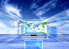 Consultando o Internet ilustração stock