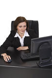 Consultando o Internet Imagem de Stock
