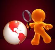 Consultando o mundo da informação Fotografia de Stock