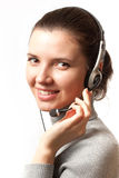 Consultant. Smiling business consultant with headset Stock Photos
