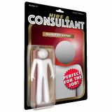 Consultant Action Figure Expert Experienced Professional. 3d Illustration Stock Photos