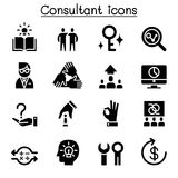 Consultant & Expert icon set. Consultant Royalty Free Stock Images