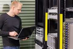 It consultant in data center Stock Images