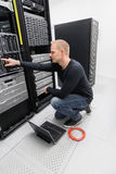 It consultant in datacenter Stock Image