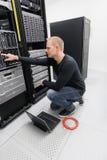 It consultant in datacenter Stock Image