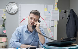 Consultant and financial loss Stock Photography