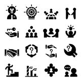 Consultant icon set. Vector illustration Stock Images