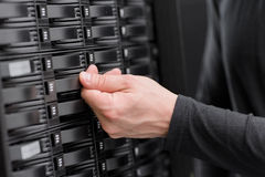 IT Consultant Maintain SAN and Servers Royalty Free Stock Photos