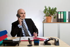 Consultant phoning with customers Royalty Free Stock Image