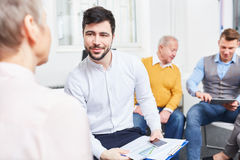 Consultant in team meeting Royalty Free Stock Photo