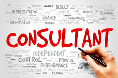 Consultant. Word cloud, business concept Stock Photo