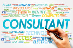 Consultant. Word cloud, security concept Royalty Free Stock Images
