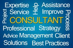 Consultant Word Cloud. On White Background royalty free illustration
