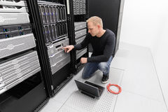 It consultant work in datacenter Stock Images