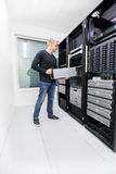 It consultant work with in datacenter Stock Image