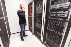 It consultant work in large datacenter Stock Images