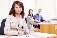 Consultante amigável do banco Fotografia de Stock
