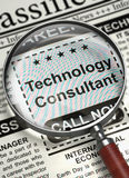 Consultante Wanted da tecnologia 3d Imagens de Stock