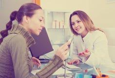 Consultation in aesthetic medicine center Royalty Free Stock Photos