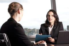 Consultation avec le conseiller financier Photographie stock