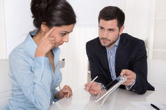 Consultation between businessman and customer at office. Royalty Free Stock Photography
