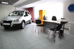 Consultation chamber for automobile buyers stock images