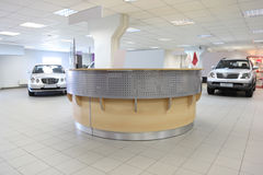 Consultation chamber for automobile buyers Stock Image