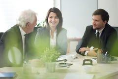 Consultation d'affaires Photo stock