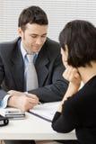 consultation d'homme d'affaires Images stock