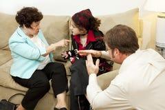 Consultation de famille - temps à l'extérieur Photos libres de droits