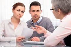 Consultation de planification financière Photographie stock libre de droits