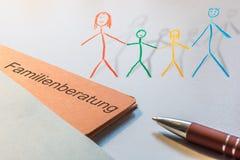Consultation des familles 3d image stock