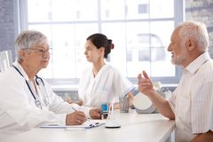 Consultation at doctor's room Royalty Free Stock Photo
