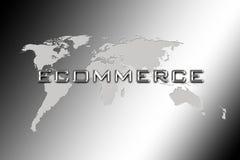 Consultation du monde de commerce électronique illustration de vecteur