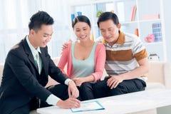 Consultation financière Image libre de droits