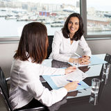 Consultation with insurance agent Stock Images