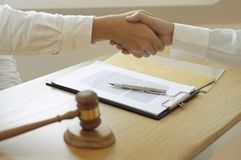 Consultation for lawyers and business cooperation royalty free stock image