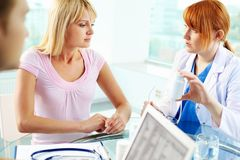 Consultation médicale Photographie stock libre de droits