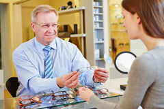 Consultation from optician for new Royalty Free Stock Photos