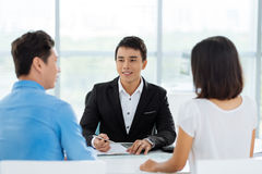 Consultation with real estate broker Stock Images