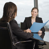 Consultation with tax adviser. Consultation with female financial adviser in a nice office Stock Images