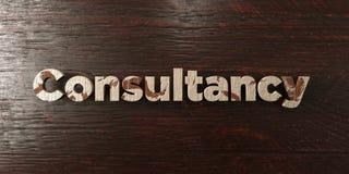 Consultation - titre en bois sale sur l'érable - image courante gratuite de redevance rendue par 3D illustration stock