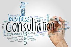 Consultation word cloud concept on grey background Royalty Free Stock Photos